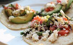 Grilled Asparagus and Avocado Tacos