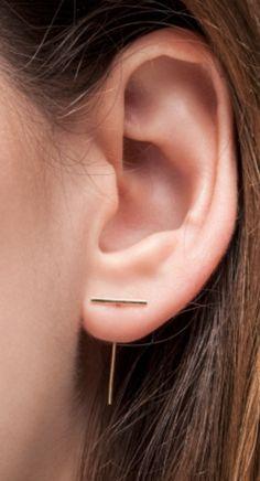 Staple loop earring