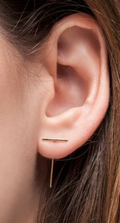 Staple loop earring