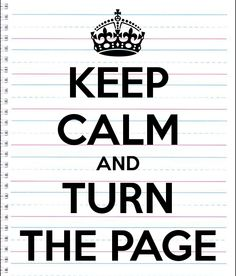 'KEEP CALM AND TURN THE PAGE' Poster