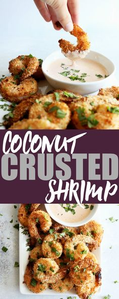 Whether they're a party appetizer or a fun weeknight treat, these coconut crusted shrimp are always a great low carb and gluten free crowd pleaser!
