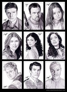 """Pencil Shavings • Firefly / Serenity 9 card """"crew"""" set.  Private..."""