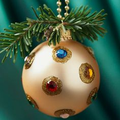 Bejeweled Christmas Ornament ~~ You Can Make