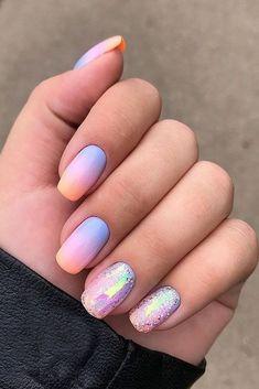 108 cute nail art designs for short nails 2019 11 Cute Nail Art Designs, Cute Summer Nail Designs, Colorful Nail Designs, Colorful Nails, Round Nail Designs, Summer Design, Bright Summer Nails, Cute Summer Nails, Cute Nails