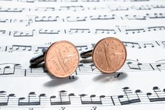 1 Euro cent Coin Cufflinks, Select Country, Wedding Gift, Anniversary, Birthday Gift, Free Gift Box, Silver Plated Base, Christmas Gift http://etsy.me/2jOF033 #accessories #cufflinks #copper #anniversary #christmas #silver #unisexadults #coincufflinks #weddinganniversary