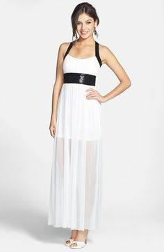 Speechless Sequin Cross Back Gown (Juniors) (Online Only) available at #Nordstrom