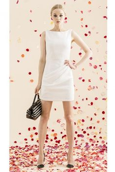 I want a simple white dress for work.