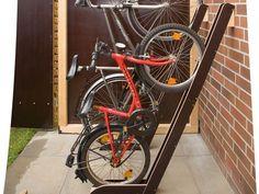 DIY Bike Stand / Fahrradständer / by se. Diy Bike, Brick Shed, Farmhouse Sheds, Corner Sheds, Bicycle Stand, Bike Parking, Bike Storage, Building A Shed, Garage Organization