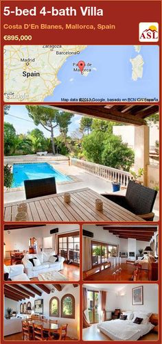 5-bed 4-bath Villa in Costa D'En Blanes, Mallorca, Spain ►€895,000 #PropertyForSaleInSpain
