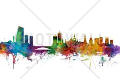 Leeds England Skyline - Tavlor på canvas - Photowall