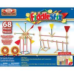 Ideal Classic Fiddlestix 68-Piece Wood Connector Set : Target