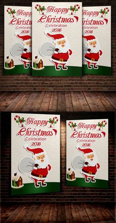Christmas Party Invitation. Flyer Templates. $6.00
