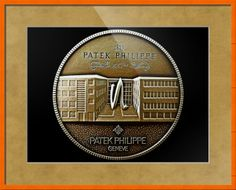 "Patek Philippe Geneve Commemorative Medal Coin (Front) // Paper: enhanced matte; Glazing: acrylic; Moulding: colorful, confetti 7/8 orange cube; Top Mat: tan, gold bullion // Price starts at $93 (Petite: 17.75"" x 19.75""). // Customize at http://www.imagekind.com/Patek-Philippe-Geneve-PPG_art?IMID=5cad76ca-2632-4430-9e1b-71f73e27c714"