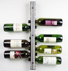 12 trous vin de stockage / affichage Tube en acier inoxydable mur bouteille de vin Tube de 62 cm(China (Mainland))