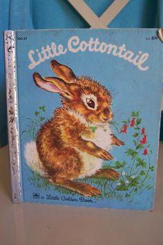 Little Cottontail, Bunny Rabbit Little Golden Book 1960