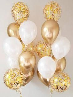 Heart Chrome And Glitter Balloons 18 Pieces 18 Inches Gold Balloons Glitter Balloons Gold Party Decorations