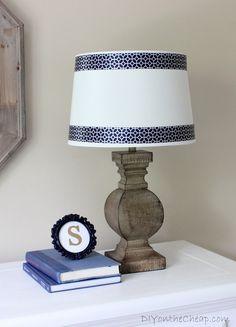 Easy Peasy Lamp Shade Ribbon Trim