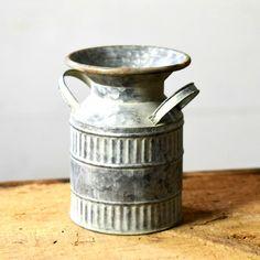 Galvanized Milk Jug: Home & Kitchen Milk Cans, Milk Jug, Antique Farmhouse, Farmhouse Decor, Glass Milk Bottles, Flea Market Finds, Home Decor Accessories, Farmers Market, Country Decor