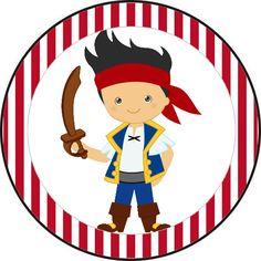 Jake y los Piratas: Etiquetas para Candy Bar para Imprimir Gratis.