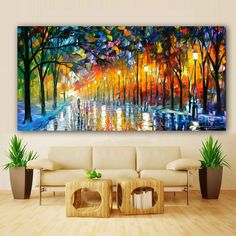 """""""Poster Modern Canvas Painting Landscape Prints Rain Light Tree Oil Painting Wall Art Pictures for Living Room Home Decor Cuadros"""" Canvas Painting Landscape, Landscape Walls, Landscape Prints, Buddha Painting, Living Room Pictures, Wall Art Pictures, Poster Wall, Print Poster, Wall Canvas"""
