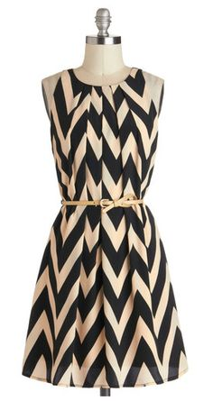 Chic chevron... switch belt with a simple gold belt