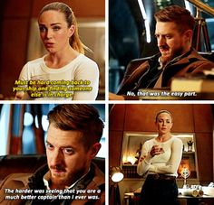 """Must be hard coming back to your ship and finding someone else is in charge"" - Sara and Rip #LegendsOfTomorrow"
