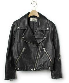 ACNE(アクネ)「ゴートレザーライダースジャケット(ライダースジャケット)」 ブラック