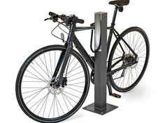Aluminium Bicycle rack BLENDA By Nola Industrier design Blenda Design Bike Storage Options, Bike Storage Home, Bicycle Stand, Bicycle Rack, Bike Parking, Cool Bicycles, Steel, City Furniture, Street Furniture