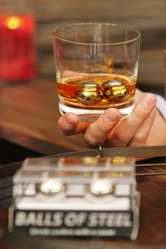 Balls of Steel whiskey chillers reduce your whiskey and other spirits down from room temp to perfect - all while supporting testicular cancer research. Spark a conversation today while enjoying perfectly chilled whiskey.