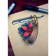 ...one more... #razor #knife #navalha #flower #neotraditional #neotraditionaldrawing #mylifestyle