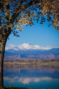 Reflections of Longs Peak and Mt. Meeker, McIntosh Lake, Boulder County, Colorado; photo by James Bo Insogna