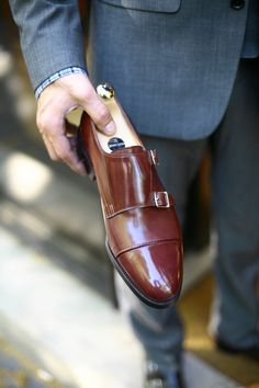Double Monks and grey Suit. Click on the link to reach our homepage and to purchase products  -> http://scaros.so/1kZN9Mc