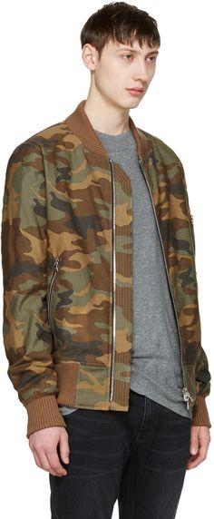 Amiri - Tan Camo Bomber Jacket