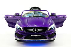 Mercedes CLA45 AMG 12V Power Ride On Toy Car with Parental Remote   PURPLE METALLIC