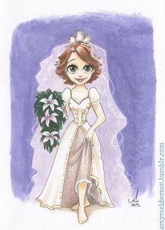 """Barefoot Bride"" by Amy Mebberson (amymebberson.tumblr.com)"
