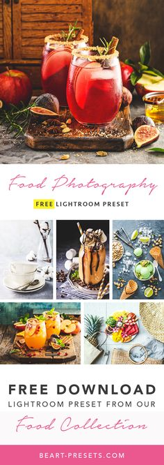 Free food photography lightroom preset for photographers from our Premium Collection. Limited time offer. DOWNLOAD FREE! #lightroom #photography #foodphotography #photographytips