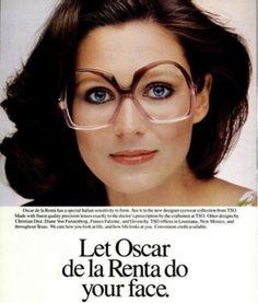 1980s Oscar de la Renta frames.