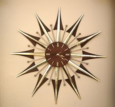 Fully Restored Mid Century Atomic Starburst Clock by retromodstore