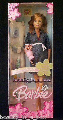 Original Pregnant Midge & Baby Barbie Doll Happy Tummy Family