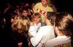 "niirvana: "" Kurt Cobain in the Astoria Theatre in London, November 5, 1991. """
