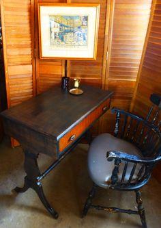 Old West Antique Writing Desk Vintage Poppy by poppycottage, $450.00
