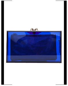 Charlotte Olympia  Blue transparent spider-clasp Pandora box in Yves Klein Blue.