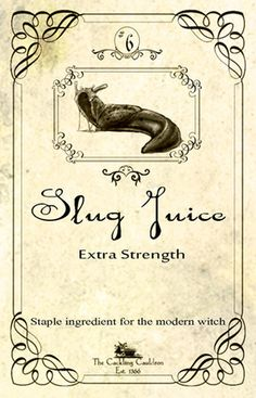Slug Juice Label