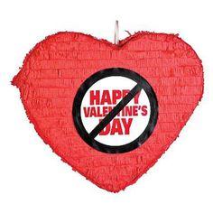 Anti-Valentine's Day Heart Piñata - Party & Valentine's Day Decor Hate Valentines Day, Valentines For Singles, Homemade Valentines, Valentines Day Hearts, Heart Diy, Pinata Party, Heart Party, Valentines Day Decorations, Valentine's Day Diy