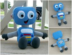 Huggable Robot Pattern  PDF Instant Download by HuggablePatterns