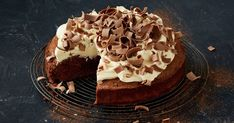 Cake, brownie and cheesecake become one in this easy mash-up baking recipe.