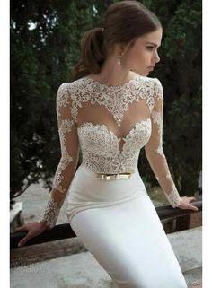 $149--White Lace Wedding Dresses Vestidos De Noiva 2014