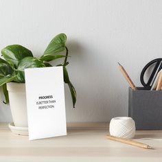 """PROGRESS NOT PERFECTION"" Art Boards    https://www.redbubble.com/people/ideasforartists/works/25147332-progress-not-perfection?asc=u&p=gallery-board&rel=carousel      #redbubble #motivation #inspirationandideas #inspirationalquotes #inspiration"
