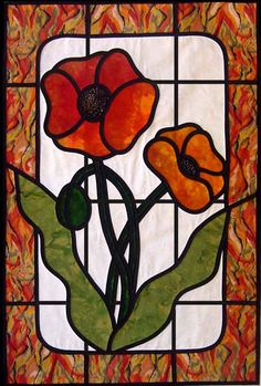 """Stained Glass Poppy"""