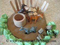 Horse Play-doh Kit  Inspire creativity.  Busy Bag -  Great fine motor practice. $5.00, via Etsy.